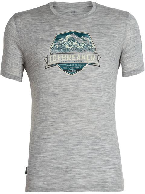 Icebreaker Tech Lite Cook Crest SS Crewe Shirt Men metro heather